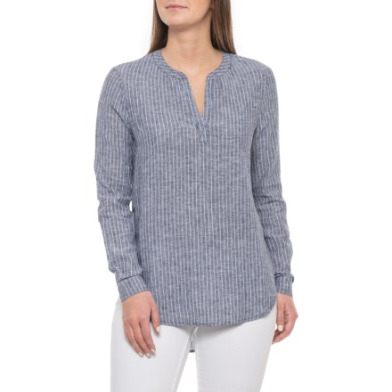a1e88fe051 Beach Lunch Lounge Indigo Bee Shirt - Linen-Cotton, Long Sleeve (For Women