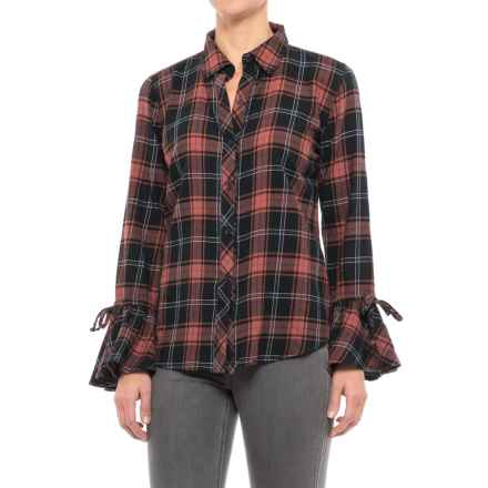 Beach Lunch Lounge Natalia Flannel Shirt - Long Sleeve (For Women) in Rusty - Closeouts