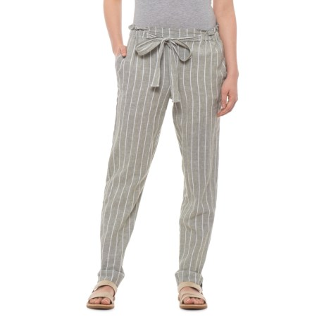 16078be9c9 Beach Lunch Lounge Olive Giavanna Tie-Front Pants - Linen-Cotton (For Women