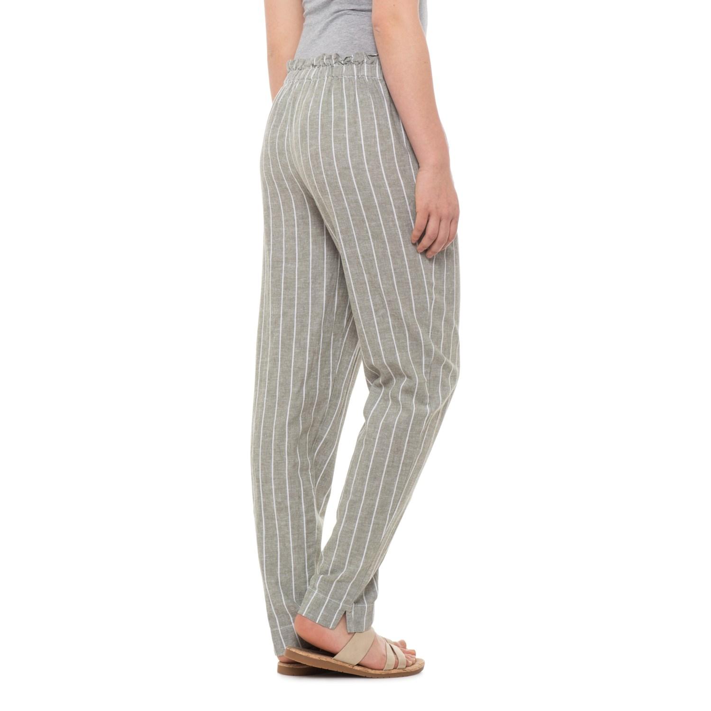 0d9fcf18f3 Beach Lunch Lounge Olive Giavanna Tie-Front Pants - Linen-Cotton (For Women)