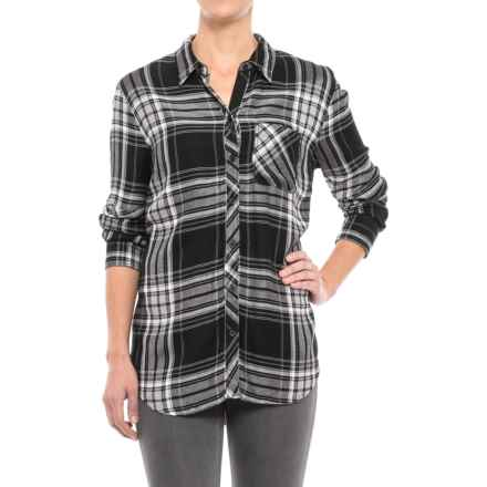 Beach Lunch Lounge Sable Flannel Shirt - Long Sleeve (For Women) in Dark Ink - Closeouts