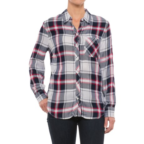 Beach Lunch Lounge Sable Flannel Shirt - Long Sleeve (For Women) in Night Shadow
