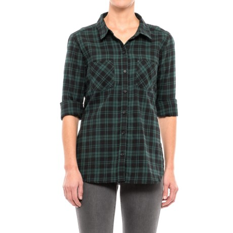 Beach Lunch Lounge Tammy Flannel Shirt - Long Sleeve (For Women) in Spruce