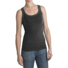 Bead Trim Tank Top (For Women) in Black - 2nds