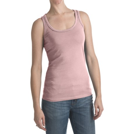 Bead Trim Tank Top (For Women) in Pink