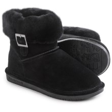 Bearpaw Abby Boots - Suede Sheepskin-Wool, Lined (For Women) in Black - Closeouts
