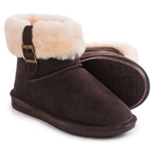 Bearpaw Abby Boots - Suede Sheepskin-Wool, Lined (For Women) in Chocolate Ii - Closeouts