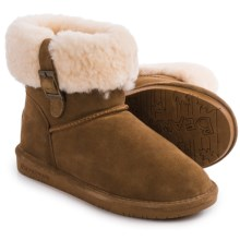 Bearpaw Abby Boots - Suede Sheepskin-Wool, Lined (For Women) in Hickory Ii - Closeouts