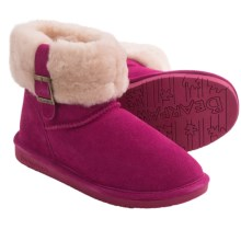 Bearpaw Abby Boots - Suede Sheepskin-Wool, Lined (For Women) in Pom Berry - Closeouts