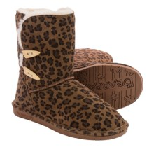 Bearpaw Abigail Sheepskin Boots - Suede (For Women) in Hickory Leopard - Closeouts