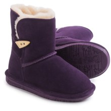 Bearpaw Abigail Winter Boots - Suede (For Kid and Youth) in Deep Purple - Closeouts