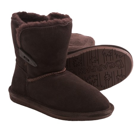 Bearpaw Abigail Winter Boots - Suede (For Youth) in Chocolate Ii