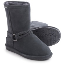 Bearpaw Adele Sheepskin Boots - Suede (For Women) in Charcoal - Closeouts