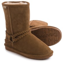 Bearpaw Adele Sheepskin Boots - Suede (For Women) in Hickory Ii - Closeouts