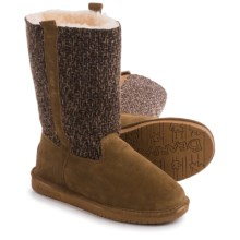 Bearpaw Adrianna Boots - Suede, Wool (For Women) in Hickory Ii - Closeouts