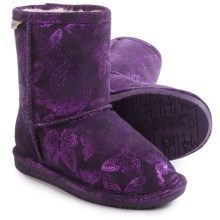 Bearpaw Belle Boots - Suede, Wool Lined (For Toddlers) in Deep Purple - Closeouts