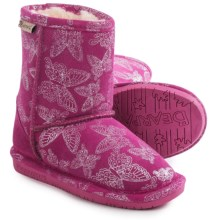 Bearpaw Belle Boots - Suede, Wool Lined (For Toddlers) in Pom Berry - Closeouts