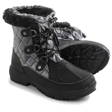 Bearpaw Bethany Apres Leather Snow Boots - Waterproof, Insulated (For Women) in Black - Closeouts