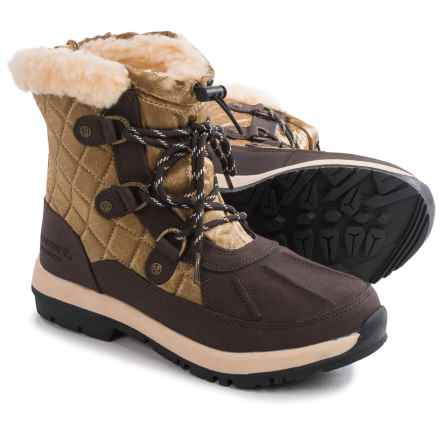 Bearpaw Bethany Apres Leather Snow Boots - Waterproof, Insulated (For Women) in Chocolate/Bronze - Closeouts