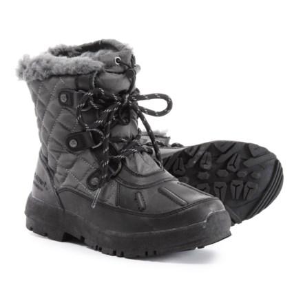 62e81de116e8 Bearpaw Bethany Boots - Waterproof (For Girls) in Black Grey - Closeouts
