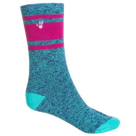 Bearpaw Boot Socks - Mid Calf (For Girls) in Marled Blue/Pink - Closeouts