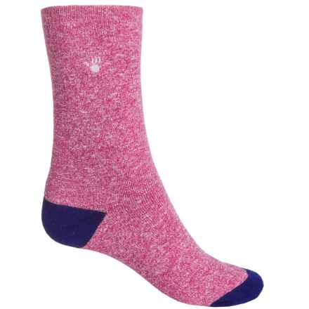 Bearpaw Boot Socks - Mid Calf (For Girls) in Marled Rose/Navy - Closeouts