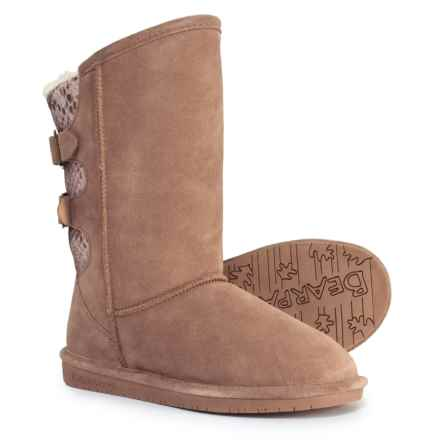 Bearpaw Boshie Boots - Suede (For Women) in Taupe - Closeouts