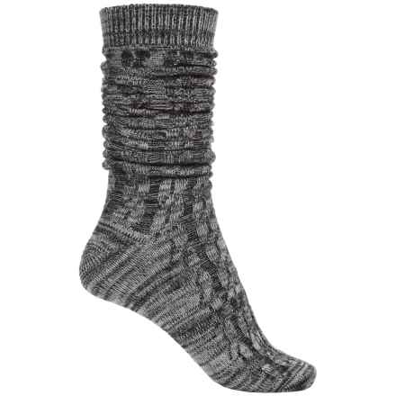 Bearpaw Boyfriend Slouchy Boot Socks - Over the Calf (For Women) in Gray - Closeouts