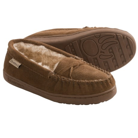 Bearpaw Brigetta Slippers - Suede, Sheepskin Lining (For Women) in Hickory Ii