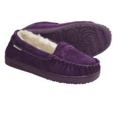 Bearpaw Brigetta Slippers - Suede, Sheepskin Lining (For Women) in Winterberry - Closeouts