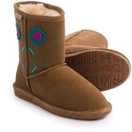 Bearpaw Buttercup Boots - Suede, Sheepskin (For Kid and Youth Girls) in Hickory Ii - Closeouts