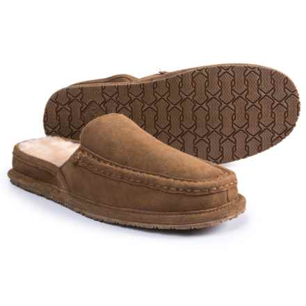 Bearpaw Calvin Slippers - Suede (For Men) in Hickory  Ii - Closeouts