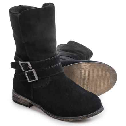 Bearpaw Carrie Sheepskin Boots - Suede (For Women) in Black Ii - Closeouts