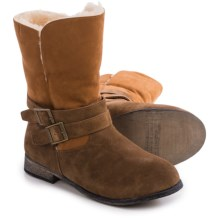 Bearpaw Carrie Sheepskin Boots - Suede (For Women) in Hickory Ii - Closeouts