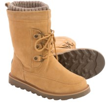 Bearpaw Cinna Boots - Suede (For Women) in Dark Honey - Closeouts