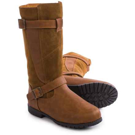 Bearpaw Edith Sheepskin Boots - Suede, Faux Leather (For Women) in Hickory Ii - Closeouts