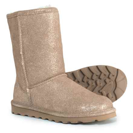 """Bearpaw Elle Short  Boots - Suede, 8"""" (For Women) in Pewter Distressed - Closeouts"""