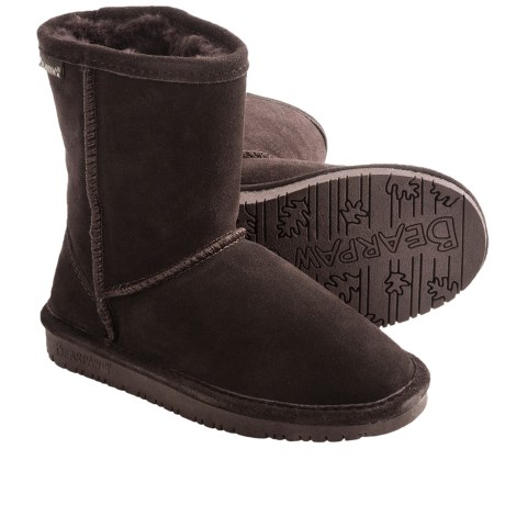 Bearpaw Emma Boots - Suede, Sheepskin (For Toddler Girls) in Chocolate