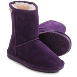 Bearpaw Emma Boots - Suede, Sheepskin (For Toddler Girls) in Deep Purple