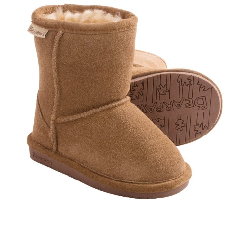 Bearpaw Emma Boots - Suede, Sheepskin (For Toddler Girls) in Hickory/Champagne