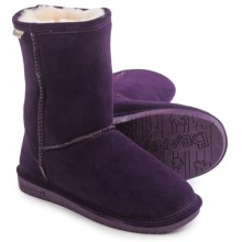 Bearpaw Emma Short Boots - Sheepskin Lined, Suede (For Women) in Deep Purple - Closeouts