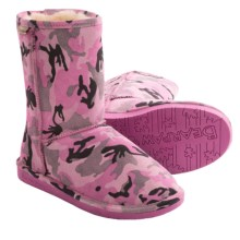 Bearpaw Emma Short Boots - Sheepskin Lined, Suede (For Women) in Pink Camo - Closeouts