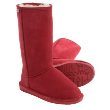 Bearpaw Emma Tall Boots - Suede, Sheepskin-Lined (For Women) in Cranberry - Closeouts