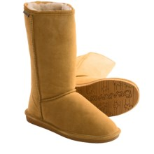 Bearpaw Emma Tall Boots - Suede, Sheepskin-Lined (For Women) in Dark Honey - Closeouts