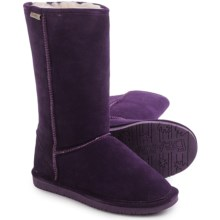Bearpaw Emma Tall Boots - Suede, Sheepskin-Lined (For Women) in Deep Purple - Closeouts
