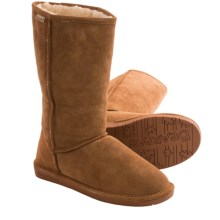Bearpaw Emma Tall Boots - Suede, Sheepskin-Lined (For Women) in Hickory/Champagne - Closeouts