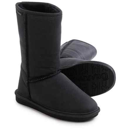"Bearpaw Emma Winter Boots - 10"", Suede, Sheepskin-Lined (For Women) in Black Distressed - Closeouts"