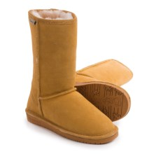 "Bearpaw Emma Winter Boots - 10"", Suede, Sheepskin-Lined (For Women) in Dark Honey - Closeouts"