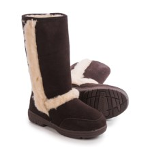 Bearpaw Eskimo Sheepskin Boots - Suede (For Women) in Chocolate Ii - Closeouts