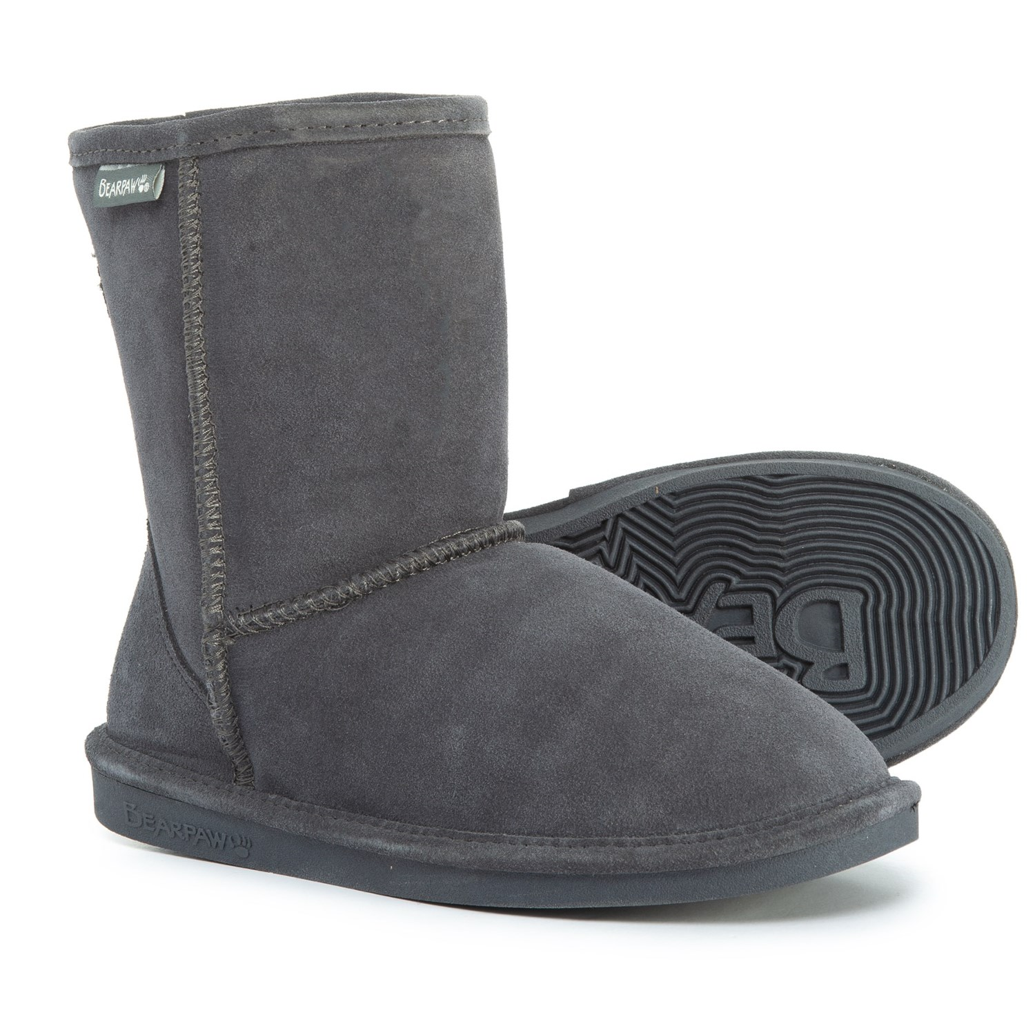 944f008c6761 Bearpaw Eva Boots - Suede (For Girls) in Grey